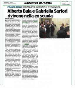 gazzetta di parma_8_01_2017_cerimonia intitolazione Alberto Buia e Gabriella Sartori